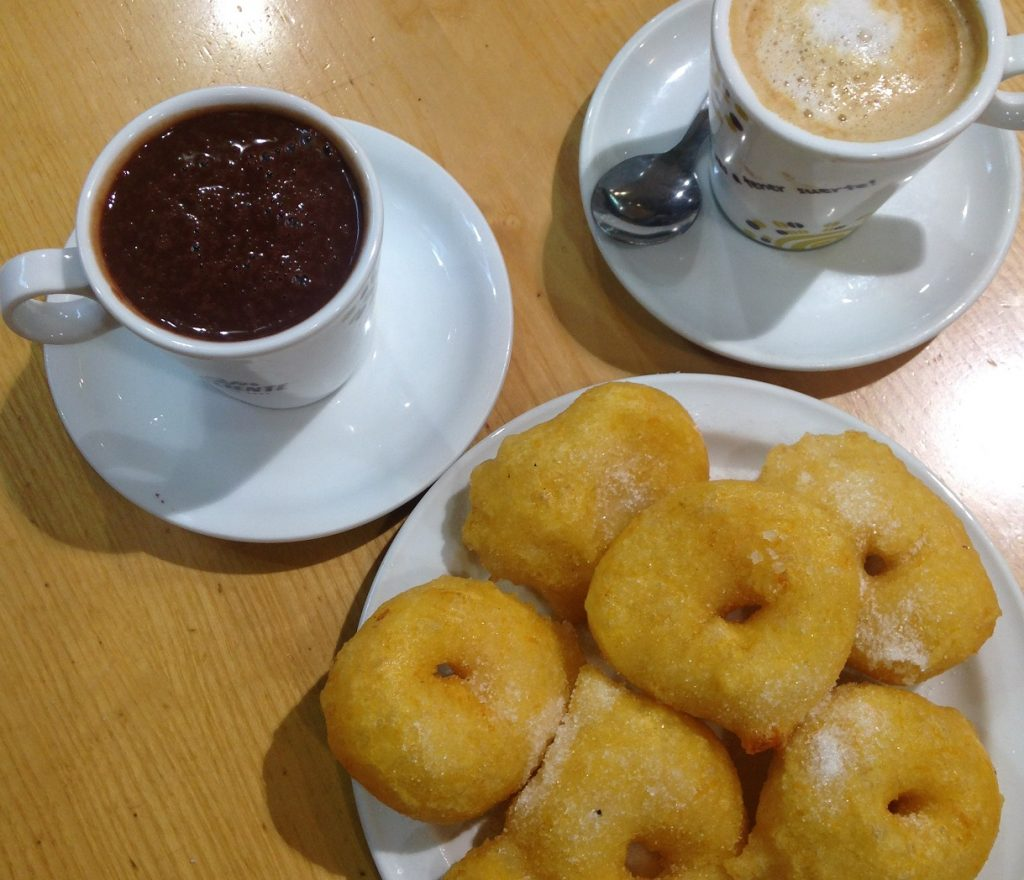 Buñuelos chocolate